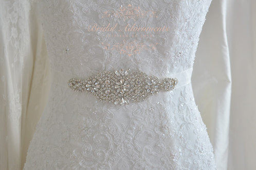 MARLENE Vintage Inspired Crystal Bridal Sash