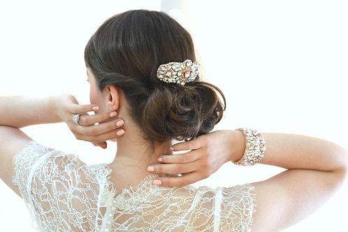 ELIZABETH ROSE GOLD Crystal Bridal Cuff/Bracelet