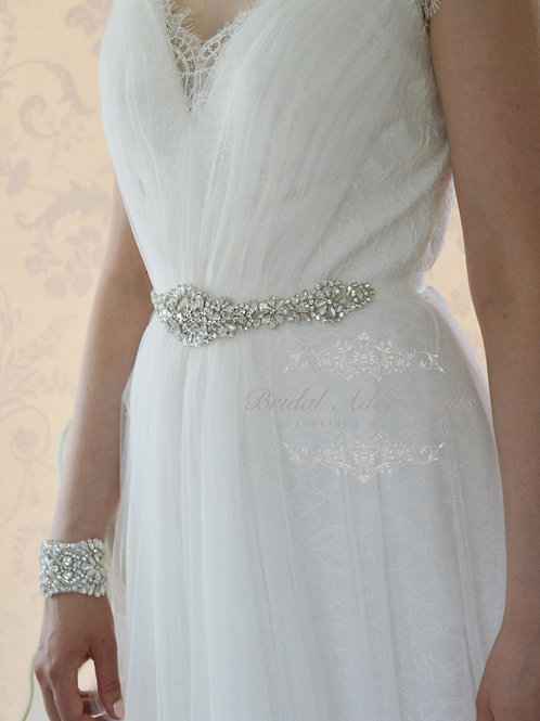 Althena Vintage Inspired Rhinestone Bridal Belt