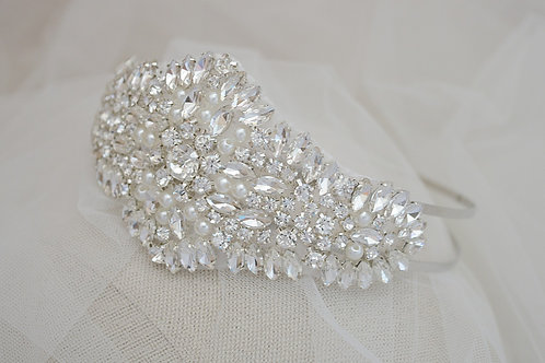 Bridal Crystal and Pearl Headpiece