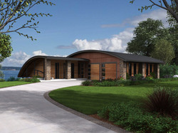 Curved Roof Contemporary