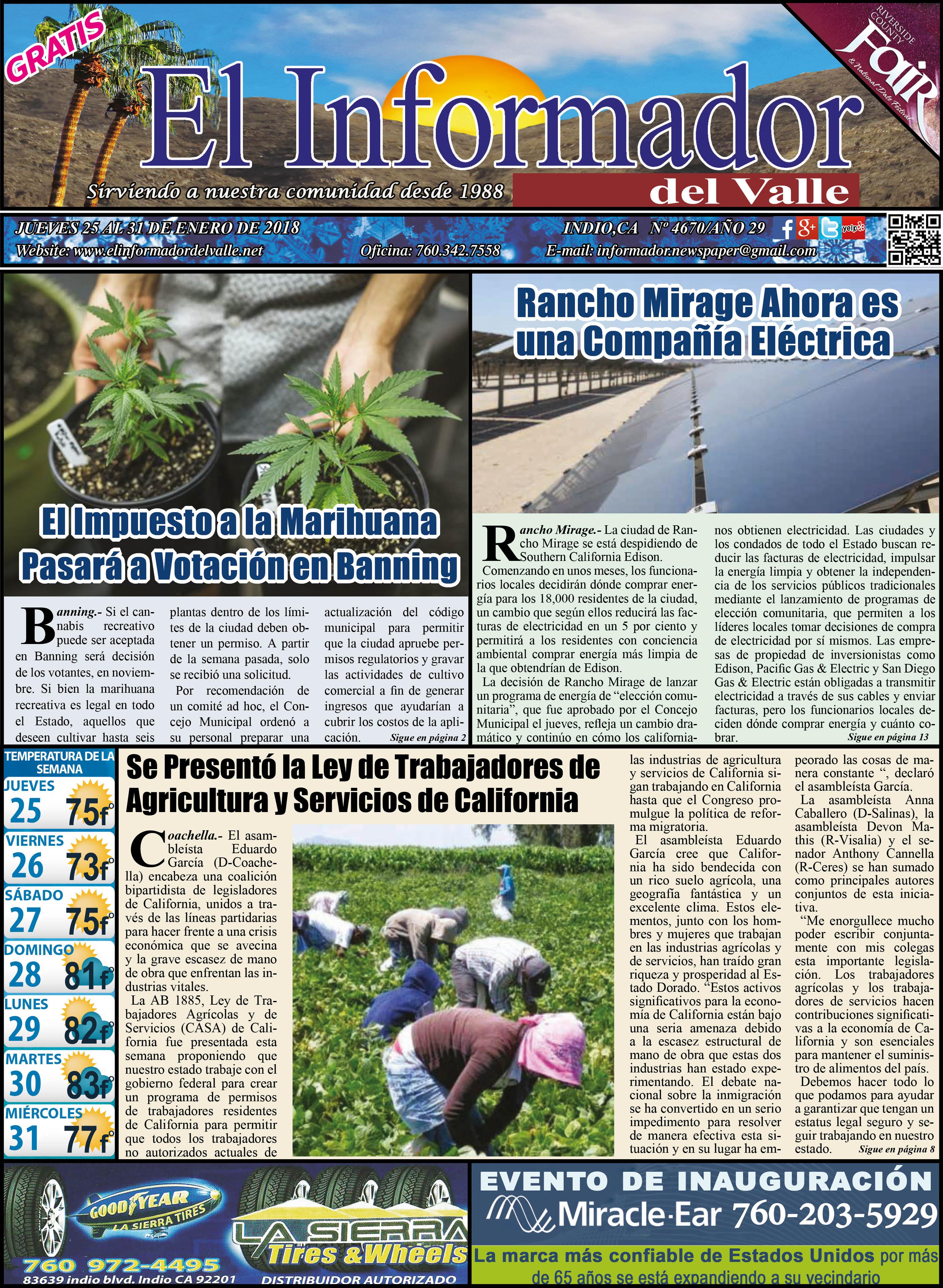 EL INFORMADOR DEL VALLE 01-25-2018