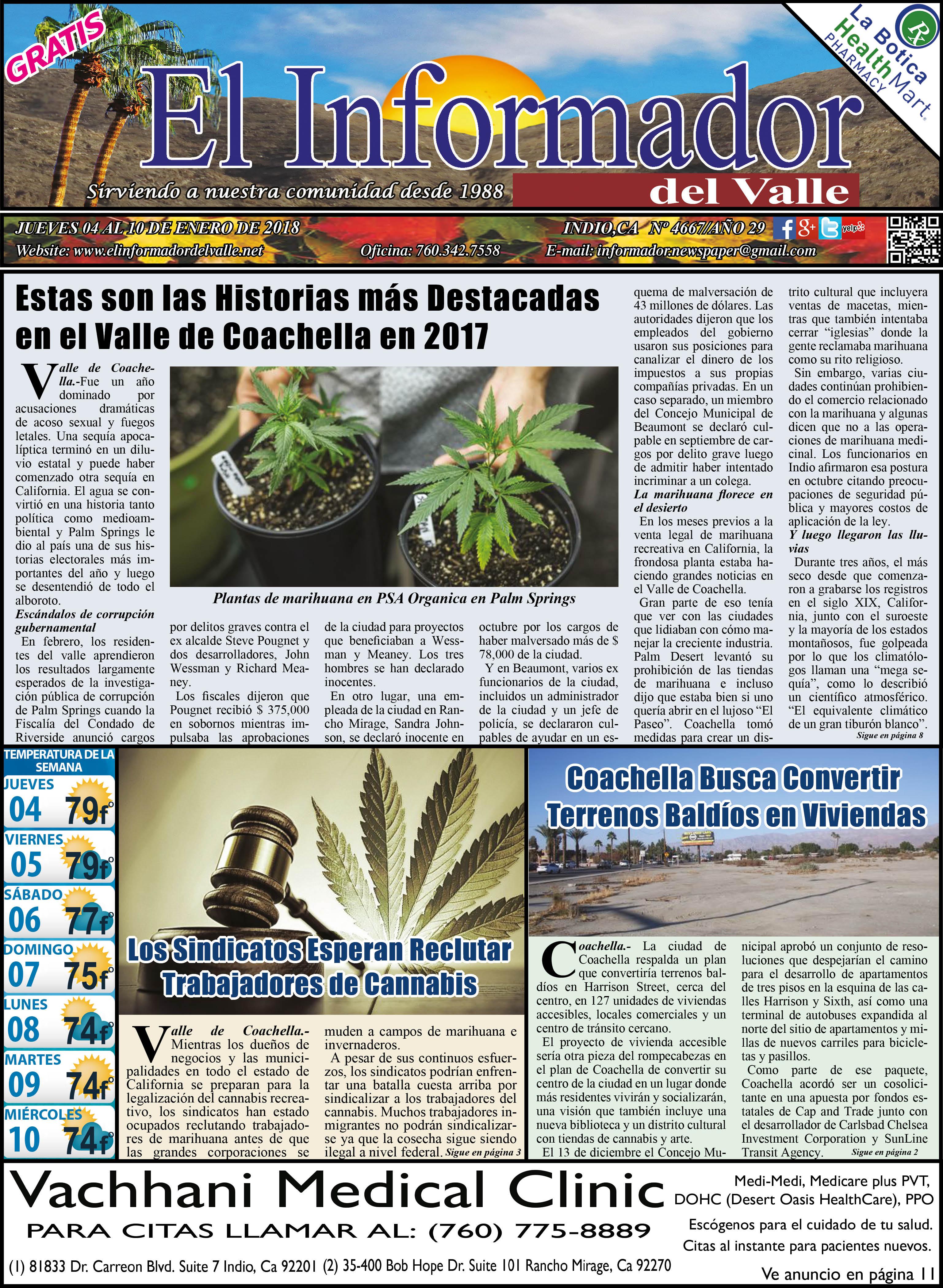 EL INFORMADOR DEL VALLE 01-04-2018