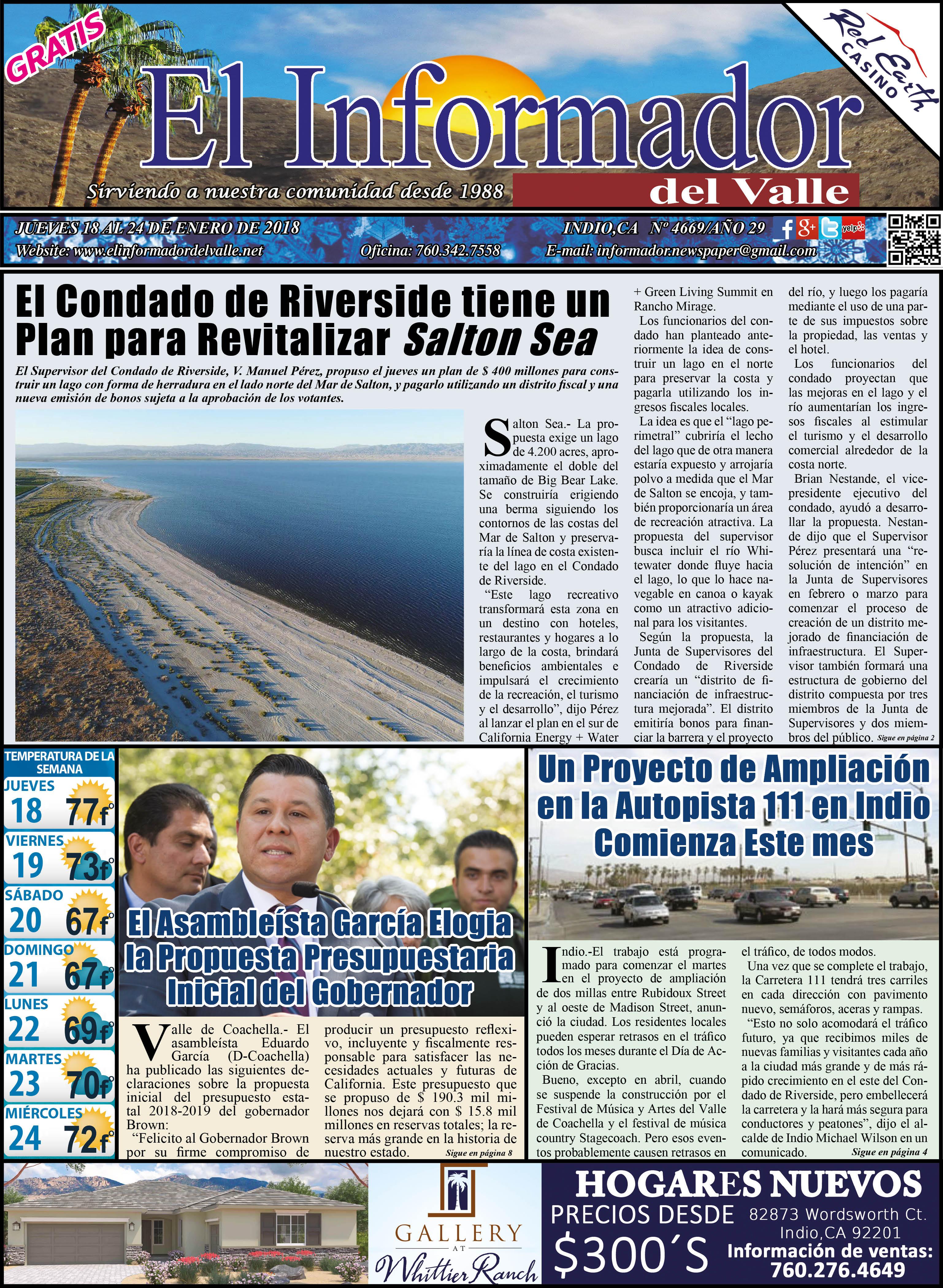EL INFORMADOR DEL VALLE 01-18-2018