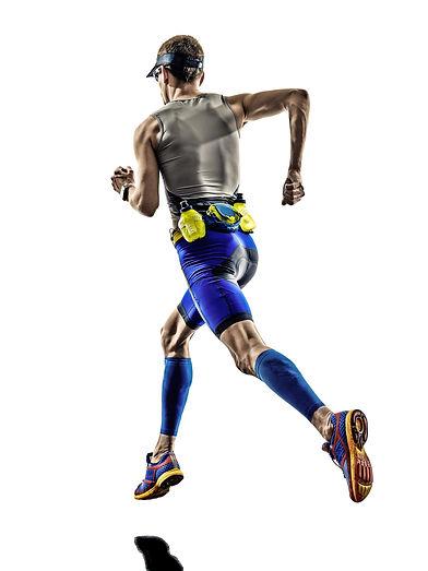 man triathlon iron man athlete runners r