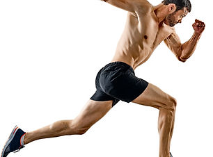 one caucasian man runner jogger running