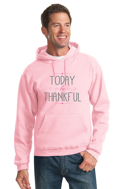 today be thankful hoodie - pink