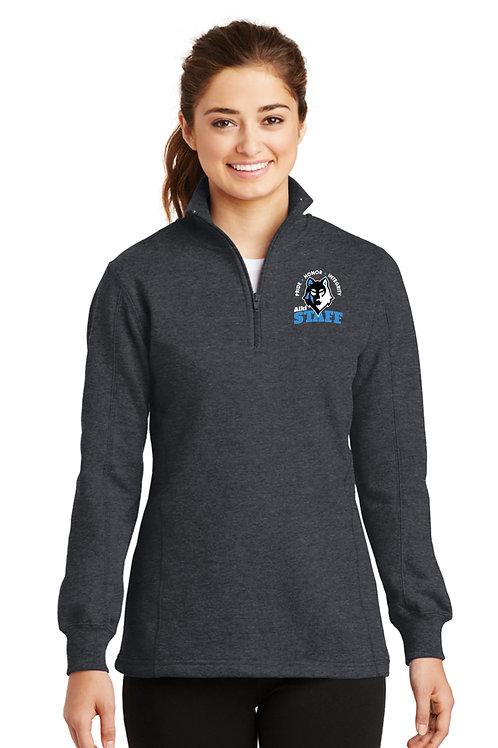 Ladies 1/4-Zip Sweatshirt LST253-STAFF