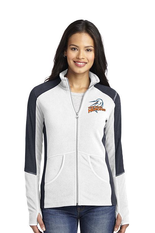 Ladies Colorblock Microfleece Jacket L230-VRS