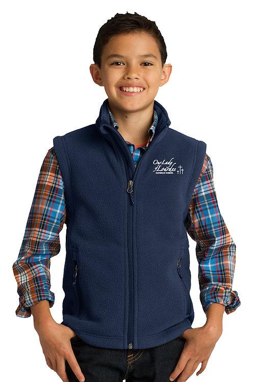 Youth Full-Zip Fleece Vest