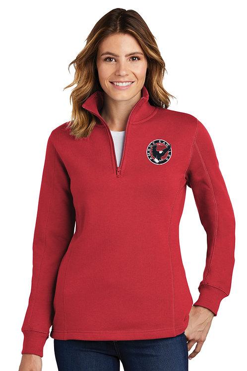 Ladies 1/4 Zip Pullover CIRCLE DESIGN