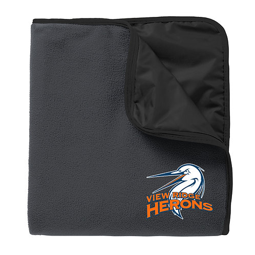 Fleece & Poly Travel Blanket Embroidered Logo - TB850