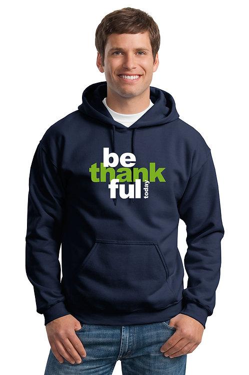 be thankful hoodie - navy w/green