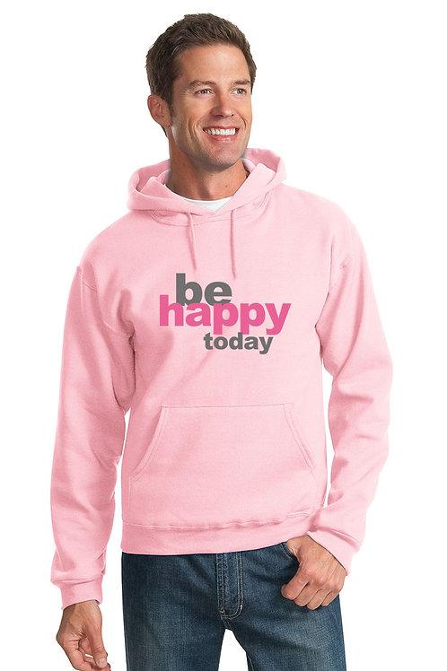 be happy hoodie - pink