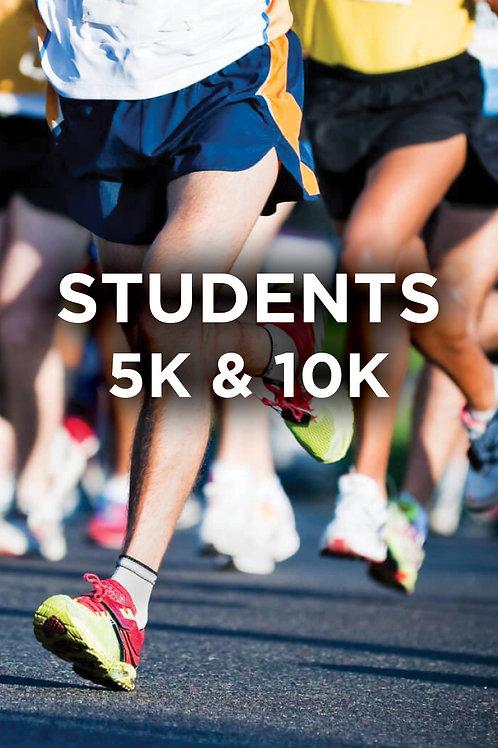 STUDENTS 5K & 10K REGISTRATION