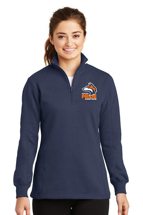 Ladies 1/4-Zip Sweatshirt LST253-COYS