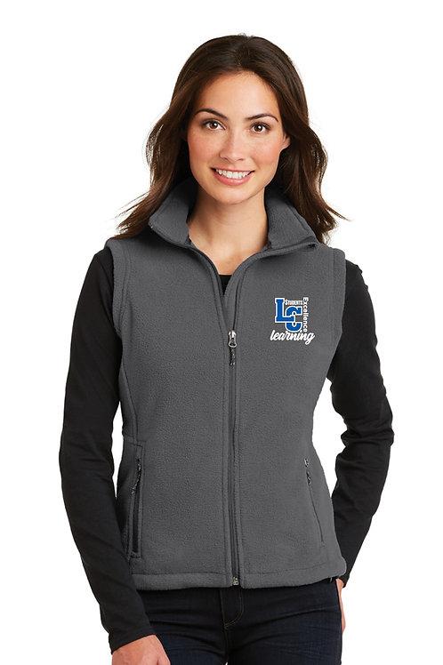 Ladies Full-Zip Fleece Vest L219-LCSTAFF