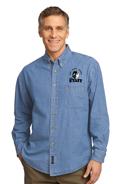Adult Long-Sleeve Denim Shirt SP10-STAFF