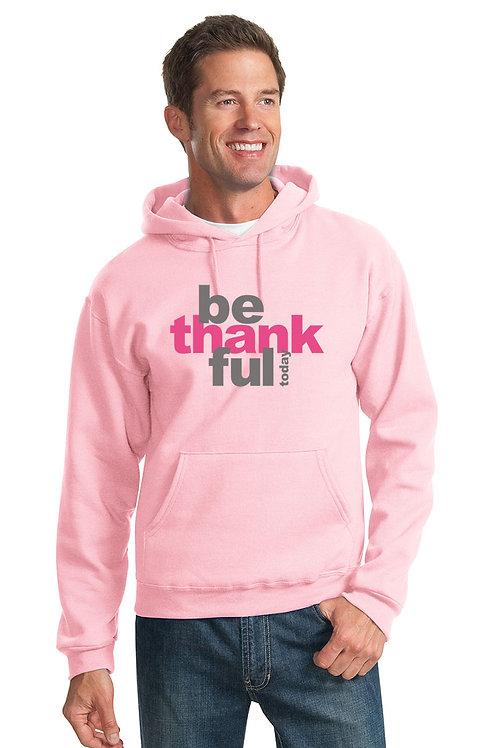 be thankful hoodie - pink