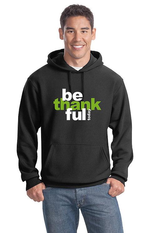 be thankful hoodie - black w/green