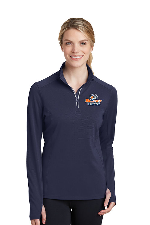 Ladies 1/4-Zip Perf. Pullover LST860-SRS