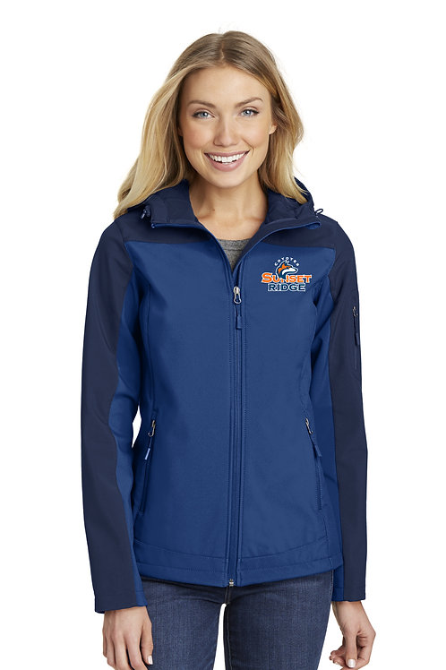 Ladies Hooded Soft Shell Jacket L335-SRS