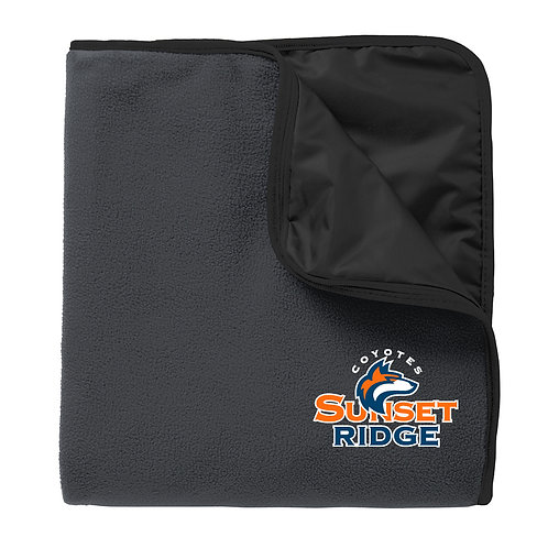 Fleece Poly Travel Blanket Embroidered Logo - TB850