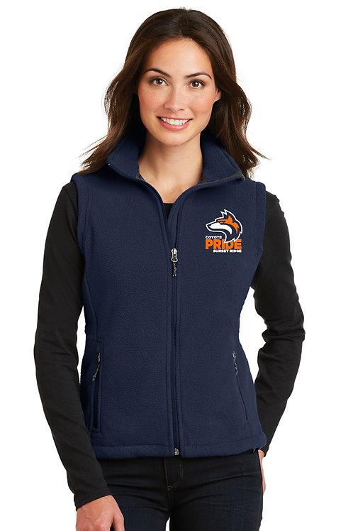 Ladies Full-Zip Fleece Vest L219-COYS