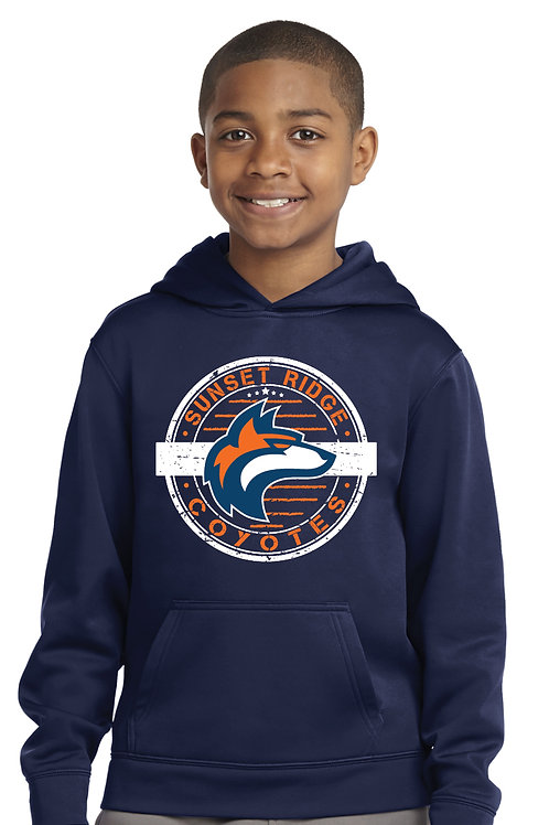 Youth Performance Stamp Hoodie YST244-SRST
