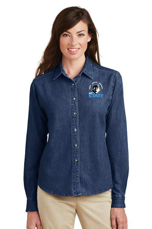 Ladies Long-Sleeve Denim Shirt  LSP10-STAFF