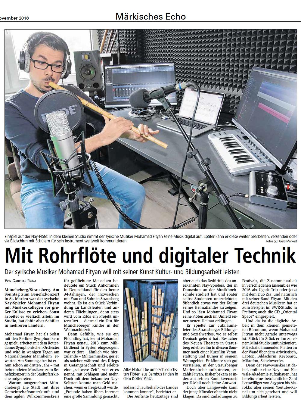 Mit Rohrflöte und digitaler Technik