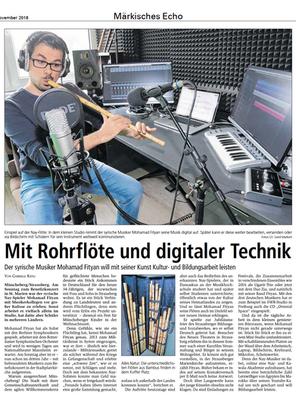 Rohrflöte und digitaler Technik