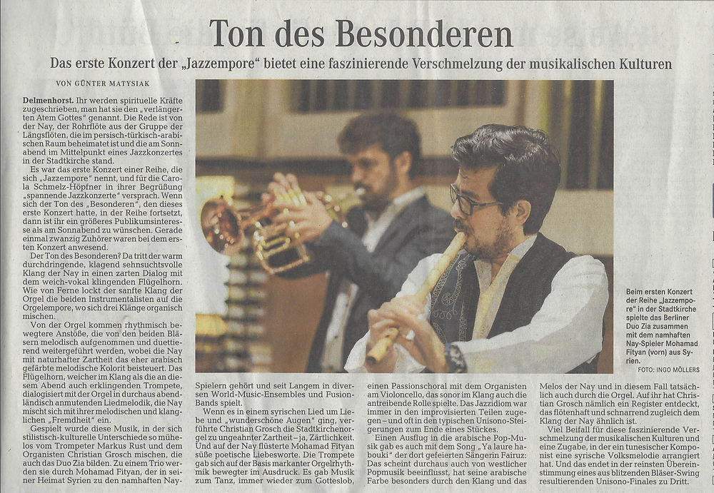 This is the last article from the concert  in Delmenhorst with Duo Zia