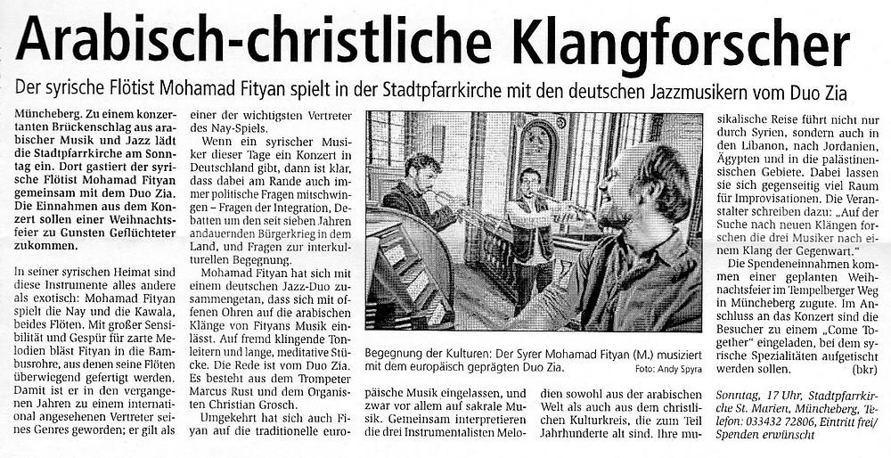 Mohamad Fityan & Duo Zia in Stadtpfarrkirche