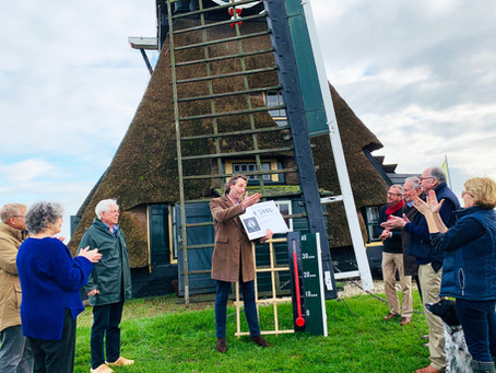 Cheque van Lions IJsselstein-Lopikerwaard voor Cabauwse Molen