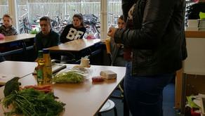 Voeding workshop bij de Opstap en Agnes school