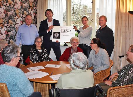 Lionsclub verrast Inloophuis Lopik