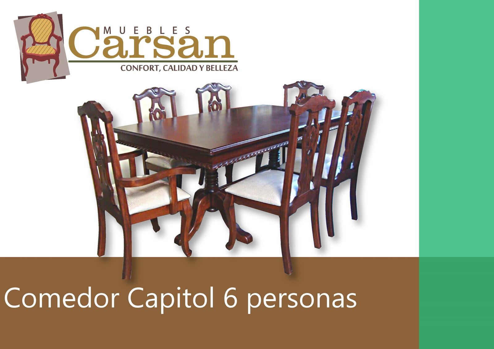 Comedor capitol 6 personas muebles carsan inicio for Muebles capitol