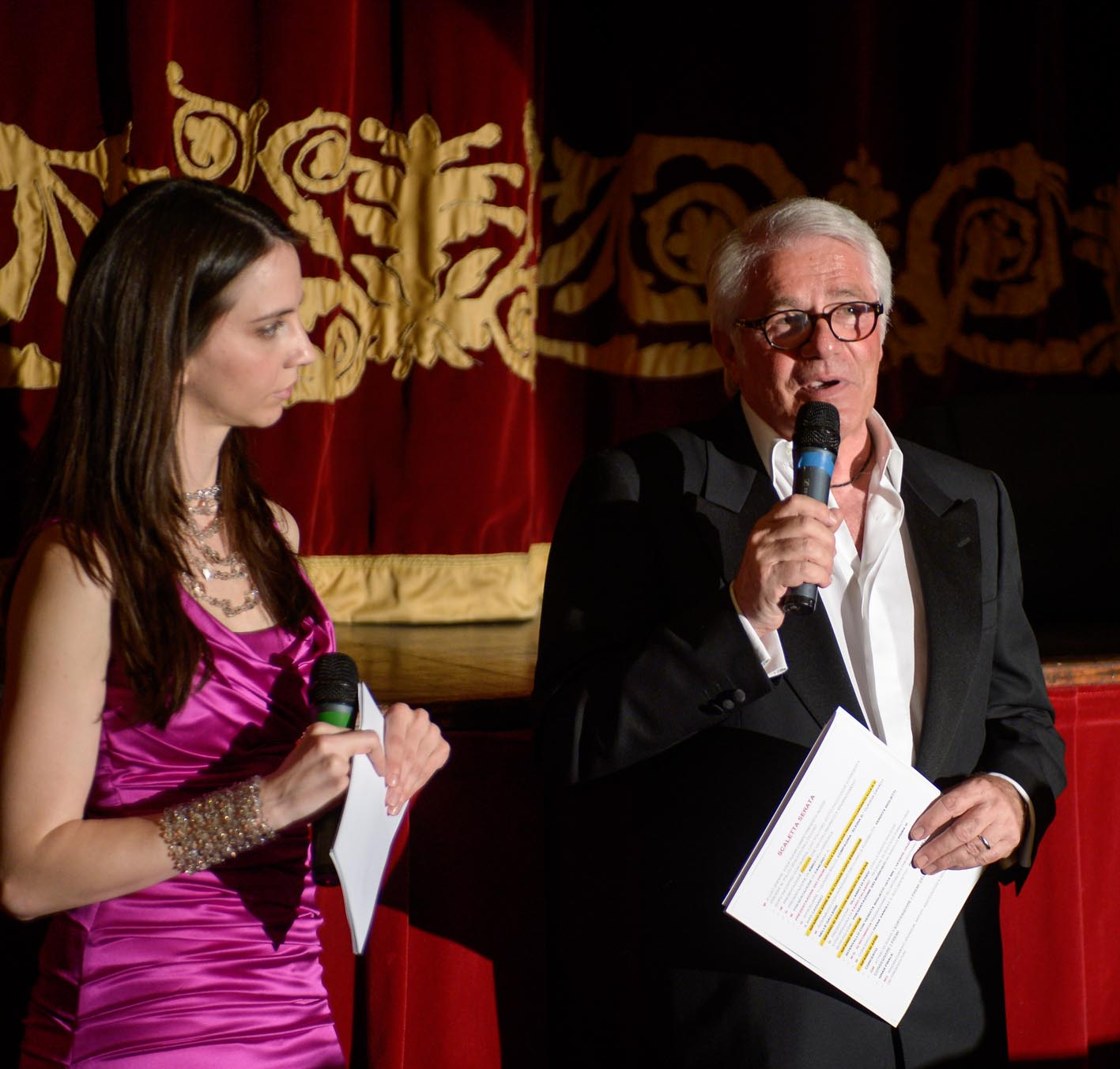 Testimonial and host for a fundraising event