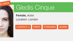 "Gledis is ""Actor of the Week"" for CCP!"