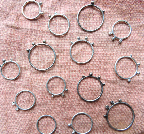 Stacker Rings, Sterling Silver