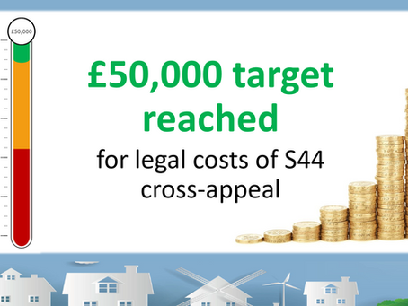 Section 44 fundraising target reached!