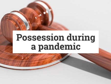 Beyond the courts closing - possession during a pandemic