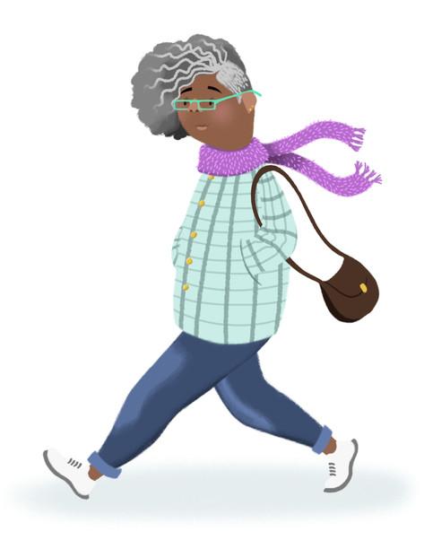 Cool Lady Walkin'
