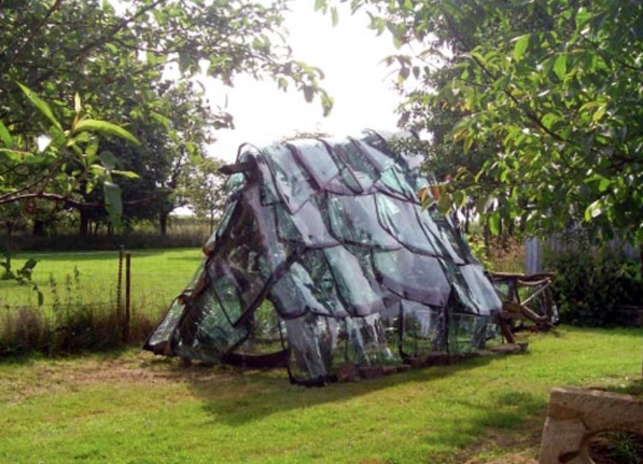 House made out of windshields