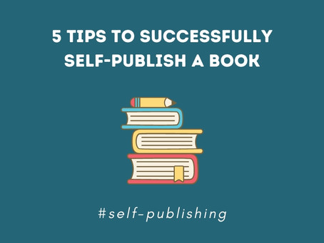 5 tips to successfully self-publish a (children's) book