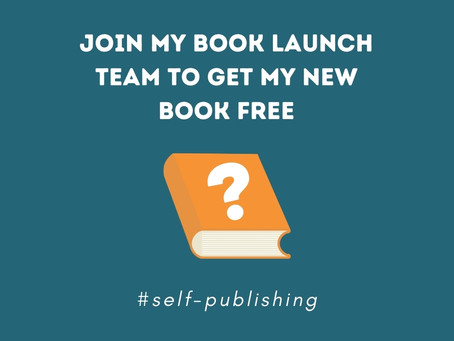 Join my book launch team to get my new book free