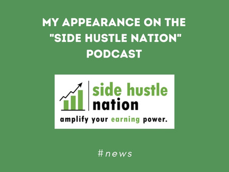 """My appearance on the """"side hustle show"""" podcast🎙️"""