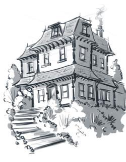 iPad House Sketch