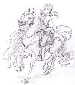 Elven Rider Sketch
